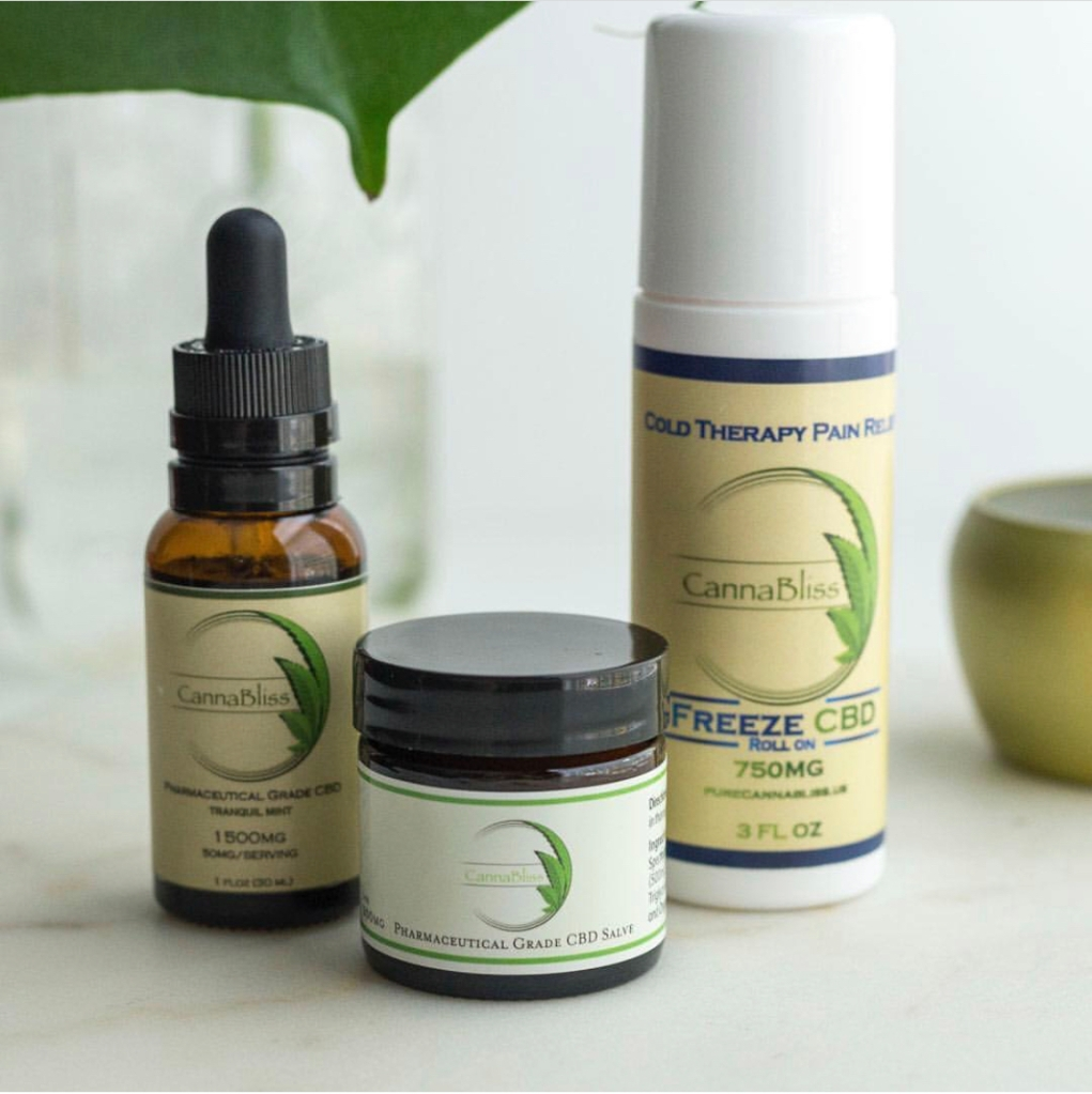 CBD cold therapy freeze roll-on stick by Cannabliss Farmacy used for soothing sore muscles